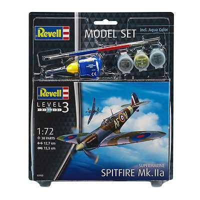 Revell-Spitfire-Mkiia-Model-Set-Level-3-Scale